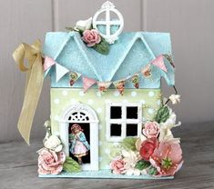 The Pastel World of Easter Village Houses (Second Edition) Cute Crafts, Diy And Crafts, Arts And Crafts, Foam Crafts, Christmas Home, Christmas Crafts, Christmas Decorations, Origami Templates, Box Templates