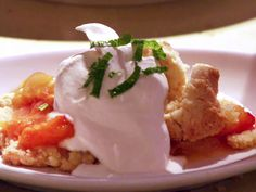 Apricot Nectarine Shortcake with Vanilla Whipped Cream Recipe : Anne Burrell : Food Network - FoodNetwork.com