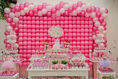 Can you believe this balloon backdrop?