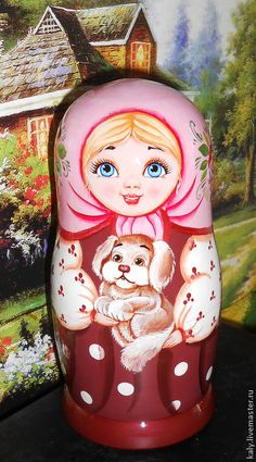 See more Nesting dolls, jewelry and other Souvenirs in Russian style folk art traditional in shop on Etsy: http://artworkshop1.etsy.com #russian #nestingdolls #matrioshka #etsyshop #russianstyle #folk #art #dolls