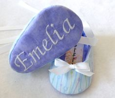 Purple, Blue and Green Baby Girl Shoe, Free Personalization