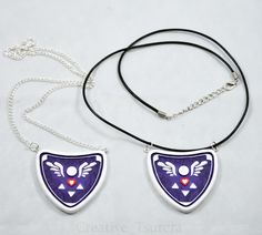 Commission- Undertale Delta Rune Necklace Charm 2 by Tsurera on DeviantArt Undertale Quotes, Undertale Au, Frisk, Undertale Hearts, Alphys And Undyne, Undertale Cosplay, Otaku, Magical Jewelry, Dresses For Teens