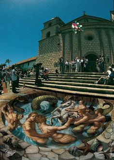 Sidewalk art has just been elevated to a whole new level thanks to Kurt Wenner