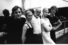 New York City Ballet rehearsal for 'The Four Seasons', with Mikhail Baryshnikov, Suzanne Farrell, Jerome Robbins, Patricia McBride & Peter Martins choreographed by Jerome Robbins (New York) Ballet Pictures, Dance Pictures, Jerome Robbins, Mikhail Baryshnikov, Vintage Ballet, Russian American, George Balanchine, American Ballet Theatre, Ballerina