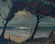 Max Kuehne American, 1880-1966 Wingaersheek Beach   Signed Kuehne (lr) Oil on board 24 x 30 inches Exh...