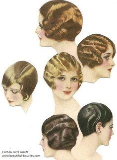 tutoriel et inspirations carre boucles crantees coiffure retro vintage annees 20 30