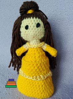 Belle's Beauty and the Beast Amigurumi Crochet Doll