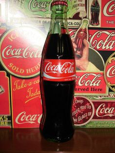 Coca cola in an ice-cold bottle
