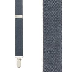 Dark Grey Suspenders - 1 Inch Wide (X-Back) - lots of size options!!