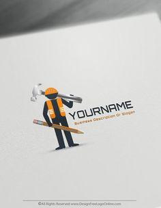 Free Builder Logo Maker – Online Constructor Logo Template