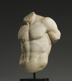 Roman marble torso of a god or athlete, circa century based on a Greek sculpture of around the Century B. Ancient Greek Sculpture, Greek Statues, Roman Sculpture, Art Sculpture, Ancient Romans, Ancient Art, Carpeaux, Empire Romain, Art Premier