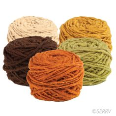 For all those yarn crafts you find on Pinterest. Fair trade sheep wool hand spun yarn.