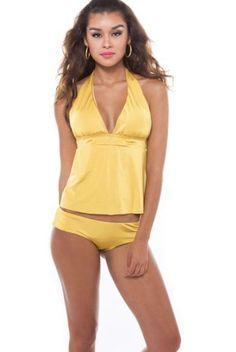 0a12292b85 Tankini Apron Back in Golden Yellow