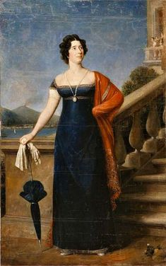 Portrait of Maria Ogińska, née Maria de Neri, wife of Polish composer and diplomat Michał Kleofas Ogiński Regency Dress, Regency Era, 1920s Dress, 1800s Fashion, 19th Century Fashion, Historical Women, Historical Clothing, Victorian Era Dresses, Tableaux Vivants