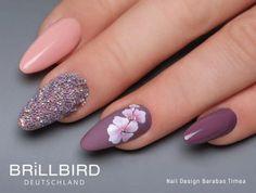 70 nail design inspiration for your nails - Fashion Ruk Spring Nail Art, Spring Nails, Summer Nails, Acrylic Nail Designs, Nail Art Designs, Cute Nails, Pretty Nails, Gel Nails, Acrylic Nails