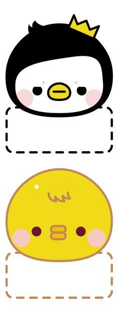 삐귄이랑 야기 이름표도 만들어봤어요넘 간단하죠;;; 아이들 이름표로 활용해보세요 ^^ 햄보끄는 주말들 되...
