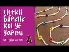 Çiçekli Bileklik ve Kolye Yapımı - YouTube Chakra Jewelry, Crochet Necklace, Beaded Bracelets, Youtube, Jewellery, Bangle Bracelets, Accessories, Crochet Jewellery, Jewels