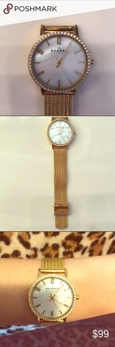 Skagen Mesh Bracelet Watch Like new!  Works perfectly!  Adjustable strap.  Absolutely gorgeous!! Skagen Jewelry