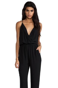 Eight Sixty Jumpsuit with Pleating in Black from REVOLVEclothing