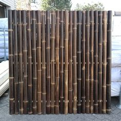 Bamboo Lashing Techniques B-grade Giant Black Bamboo Fence Panel 180 x 180 cm Brick Fence, Pallet Fence, Metal Fence, Fence Stain, Concrete Fence, Bamboo Garden Fences, Fence Planters, Bamboo Fencing Ideas, Bamboo Privacy Fence