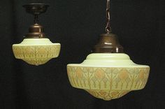 *antique ceiling lights, large & small   vintagelights.com    http://www.vintagelights.com/product/1/large-vintage-arts-crafts-design-ceiling-globes-2-available-priced-each.html