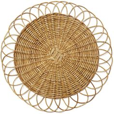 Serena & Lily Round Rattan Placemat (€25) ❤ liked on Polyvore featuring home, kitchen & dining, table linens, round table mats, round rattan placemats, circular placemats, rattan place mats and round placemats