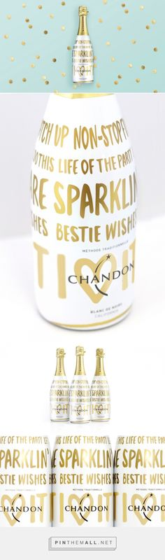 #BestieWishes Chandon Festive Holiday Bottle designed by Butterfly Cannon - http://www.packagingoftheworld.com/2015/11/bestiewishes-chandon-festive-holiday.html