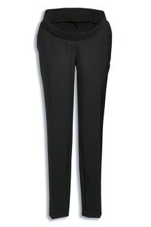 Next Black Taper Narrow Bump Band Trousers - Maternity Online | Shop The Brand Store