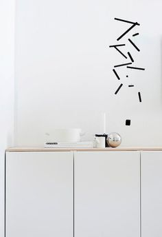 Via A Design Projects   Minimalist Hanging Mobile in Black