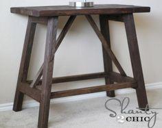 DIY Furniture : DIY Truss End Table