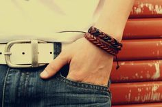 Fashion Handmade Leather String Men's Bracelet