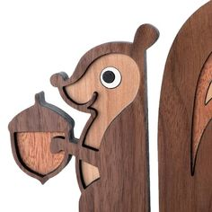 Squirrel Wooden Animal Bookend Heirloom: Kids by graphicspaceswood
