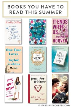 a great comprehensive list of books you have to read this summer that you can easily take on any vacation or enjoy at home Got Books, I Love Books, Books To Read, Reading Lists, Book Lists, Les Miserables Quotes, Beach Reading, What Book, First Novel
