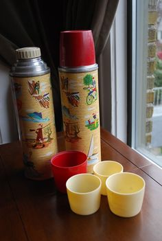 vintage camping thermos