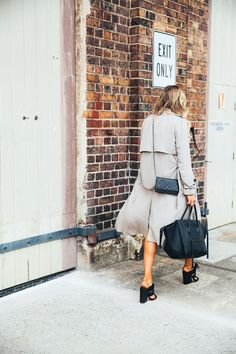 trench coat & sandals #style #fashion
