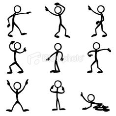 Stickfigure Pointing Royalty Free Stock Vector Art Illustration