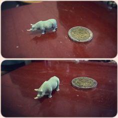 Rinoceronte miniatura #3dprinting #insta3dprint #rhinoceros #rinoceronte #miniature #miniatura by malprocrastina