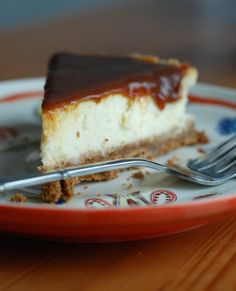 goat cheese cheesecake; fluffy, airy yet rich; gingersnap cookie crust; the filling has both cream cheese, goat cheese and heavy cream; topped with an easy, amazing, homemade creamy salted caramel
