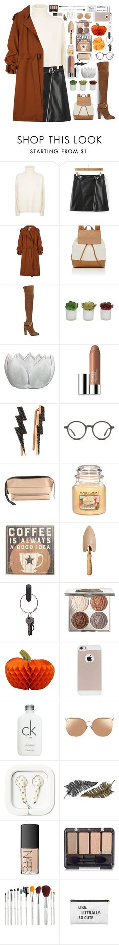 """""""Feels Like Fall"""" by milkshakes-and-dogs ❤ liked on Polyvore featuring Vince, WithChic, Marni, Barneys New York, Giuseppe Zanotti, Threshold, Clinique, Bee Goddess, Chloé and Primitives By Kathy"""