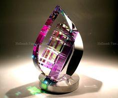 Image > Jack Storms Cut Glass Art Sculptures - Tear Drop