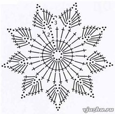 Wonderful DIY Crochet Snowflakes With Pattern - Her Crochet Maravillosos copos de nieve de ganchillo DIY con patrón - Su Crochet deko Crochet Snowflake Pattern, Crochet Stars, Crochet Snowflakes, Crochet Flower Patterns, Doily Patterns, Thread Crochet, Crochet Flowers, Crochet Stitches, Crochet Diagram
