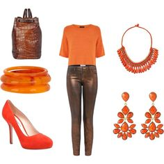 Orange with a Touch of Brown