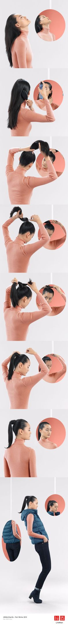 The Lily Pony - This easy ponytail is perfect on a breezy day with our ultra…