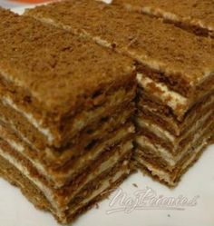 Picture of Recept - Výborná kakaová marlenka Armenian Recipes, Ukrainian Recipes, Russian Recipes, Baking Recipes, Cake Recipes, Dessert Recipes, Czech Recipes, Ethnic Recipes, Honey Cake