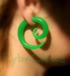 Fake ear gauge / Faux gauge/Gauge earrings / fake by RybaColnce, $20.00