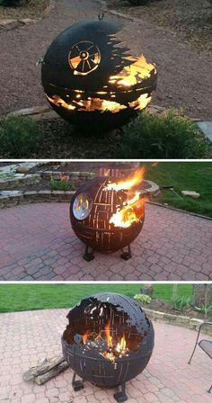 Instead of destroying planets, these Death Stars are designed to roast marshmallows. firepits backyard Star Wars Inspired Death Star Fire Pits Are Handcrafted With the Force Star Wars Death Star, Fire Pit Death Star, Foyers, Geek Culture, Easy Diy, Simple Diy, Geek Stuff, Cool Stuff, Star Wars Art