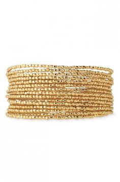 A spiral gold nugget bracelet from Stella & Dot is perfect on its own or for trendy layering.	Find fashion bracelets, bangles, cuffs, wrap bracelets & more.
