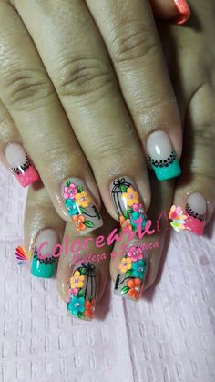 3d Nail Art, Nail Arts, Chic Nails, Flower Nails, Nails Inspiration, Pretty Flowers, Pedicure, Nail Art Designs, Polish