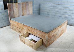 Bett Im Landhausstil / Bed Made Of Wood By BaubohlenBett Via DaWanda.com