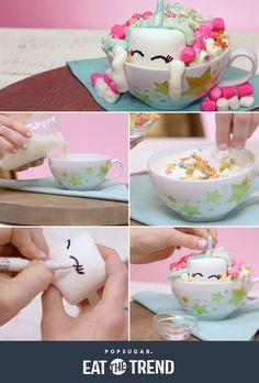 Unicorn Hot Chocolate Recipe   Video   POPSUGAR Food
